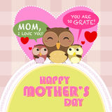 Happy mothers day, cute background Stock Photos