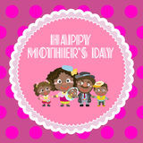 Happy mothers day, cute background vector illustration