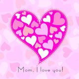 Happy mothers day, cute background Stock Images