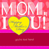 Happy mothers day, cute background Stock Photography