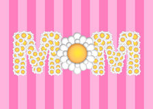 Happy Mothers Day with Daisy Flowers Pattern royalty free illustration