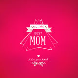 Happy Mothers Day design Stock Photos