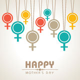 Happy Mothers day design Royalty Free Stock Image