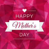 Happy Mothers Day design in trendy style Royalty Free Stock Images