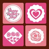 Happy mothers day design Royalty Free Stock Images