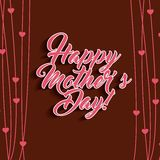 Happy mothers day design Stock Images