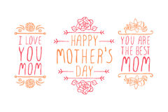 Happy Mothers Day Elements Royalty Free Stock Photo