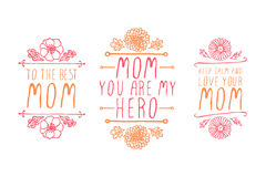 Happy Mothers Day Elements Stock Photos