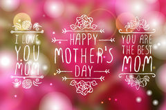 Happy Mothers Day Elements Royalty Free Stock Photography