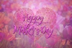 Happy Mothers Day Floral Background stock illustration
