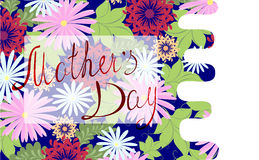 Happy Mothers Day floral greeting. EPS10 vector illustration. Royalty Free Stock Photos