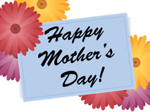 Happy Mothers Day Flowers. Happy Mother's Day card and flowers. Isolated image with no background and clipping mask used royalty free illustration