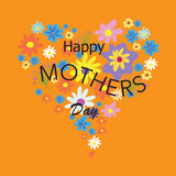 Happy mothers day. Flowers day stock illustration