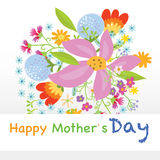 Happy mothers day. Flowers, card vector illustration