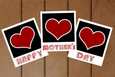 Happy mothers day frame with heart concept Royalty Free Stock Photography