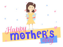 Happy mothers day. Girl Royalty Free Stock Photography