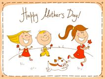 Happy Mothers Day greeting card Royalty Free Stock Image