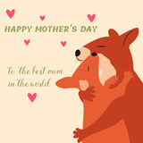 Happy Mothers Day greeting card with cute kangaroos. Happy Mothers Day greeting card with kangaroos Stock Illustration