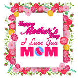 Happy Mothers Day greeting card with Flowers Royalty Free Stock Images