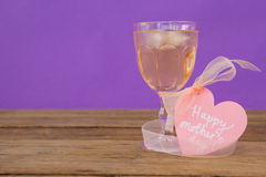 Happy mothers day greeting card with glass of beer royalty free stock image