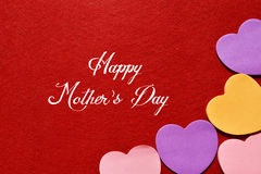 Happy mothers day greeting card. Happy mother day with flower card and background for design stock photography