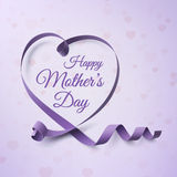 Happy Mothers Day greeting card template. Stock Photos