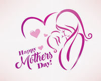 Happy mothers day greeting card template Royalty Free Stock Photos