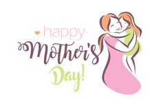 Happy mothers day greeting card template Royalty Free Stock Photography
