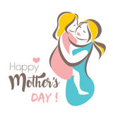 Happy mothers day greeting card template Stock Image