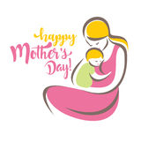 Happy mothers day greeting card template Stock Photo