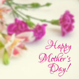 Happy mothers day greeting card Stock Images