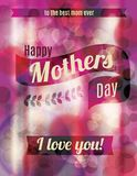 Happy mothers day greeting design. Beautiful and bright funky Mothers Day greeting design royalty free illustration