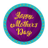 Happy Mothers Day. Greeting inscription in a retro frame with lamps Royalty Free Stock Photo