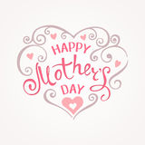 Happy Mothers Day. Hand-drawn Lettering card. Artistic design for a greeting cards, invitations, posters, banners vector illustration