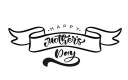 Happy Mothers day hand lettering text on stilyzed vector ribbon. Illustration good for greeting card, poster or banner vector illustration