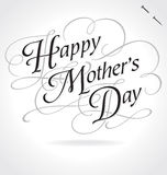 HAPPY MOTHERS DAY hand lettering (vector) Stock Photo