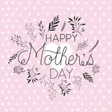 Happy mothers day handmade font postcard Royalty Free Stock Photography