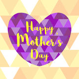 Happy mother's day with heart background Stock Images