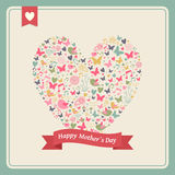 Happy Mothers day heart elements composition Stock Images