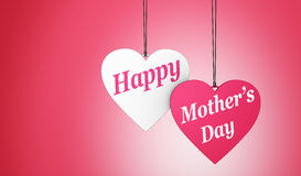 Happy Mothers Day Hearts Card Stock Photography