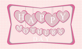 Happy mothers day. I love mommy Stock Illustration