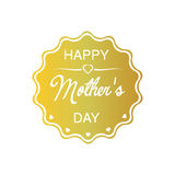 Happy Mothers Day. I love You Mom. Mothers day message on gold label. Editable vector illustration. Isolated white background Vector Illustration