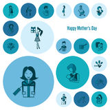 Happy Mothers Day Icons Royalty Free Stock Photo