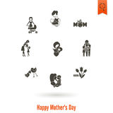 Happy Mothers Day Icons Royalty Free Stock Photos