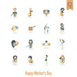 Happy Mothers Day Icons Stock Photos