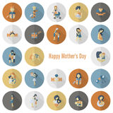 Happy Mothers Day Icons Royalty Free Stock Image