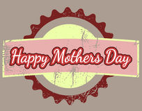 Happy Mothers Day illustration Royalty Free Stock Image