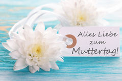 Happy Mothers Day Label. Label with the German Words Alles Liebe zum Muttertag which means Happy Mothers Day royalty free stock images