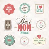 Happy Mothers Day labels and icons set Royalty Free Stock Photos