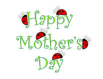 Happy Mothers Day with Ladybugs. Mother's Day Greeting with Ladybugs stock illustration